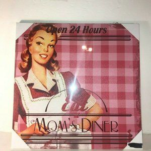 Other - Eat at Mom's Diner Open 24 Hours Retro Wall Decor